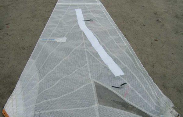 Żagiel fok mylar katamaran 155cm x 662cm (230604)
